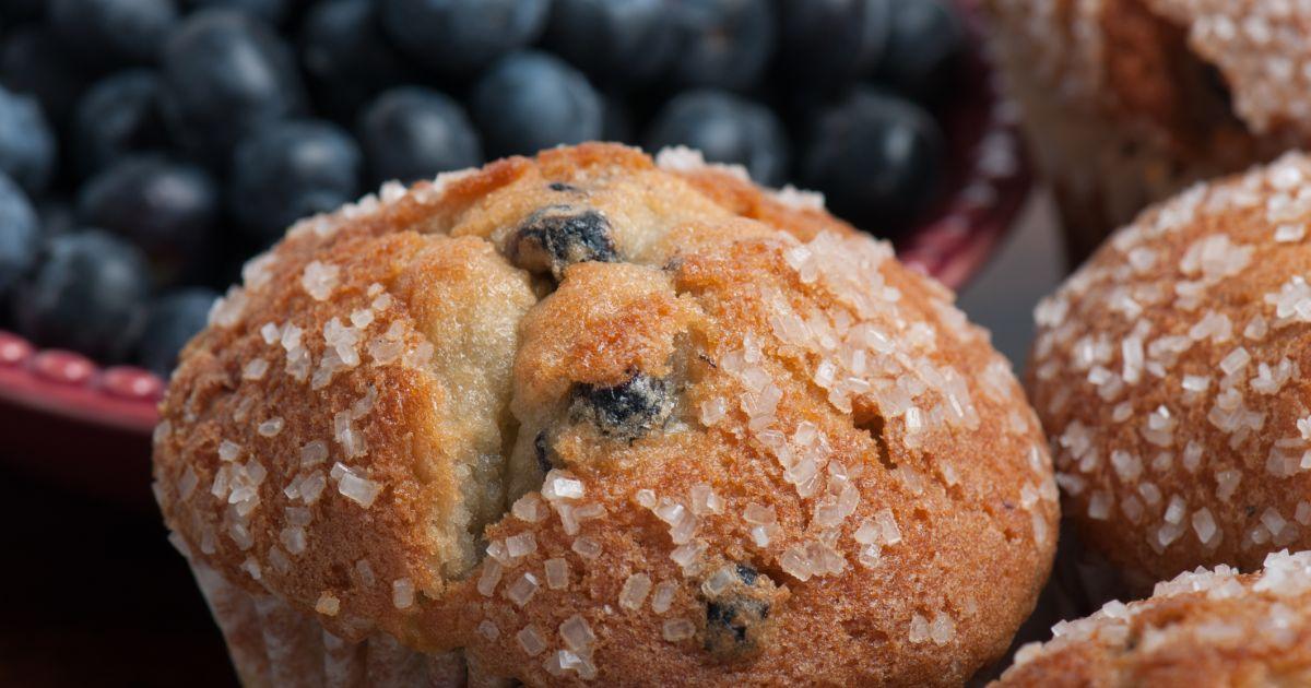 Čučoriedkové muffiny s cukrovou posýpkou, fotogaléria 1 / 1.