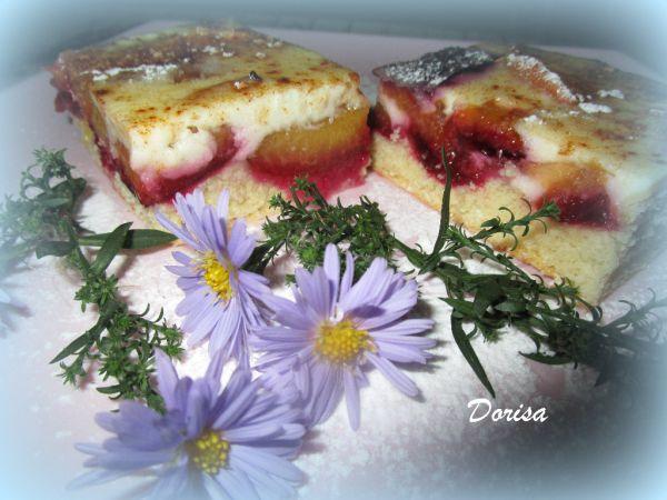 Kysnutý slivkový koláč s pudingom |