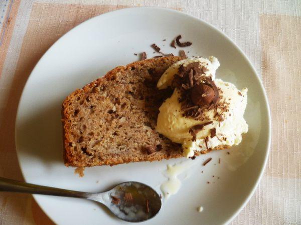 Jablkový koláč so zmrzlinou  
