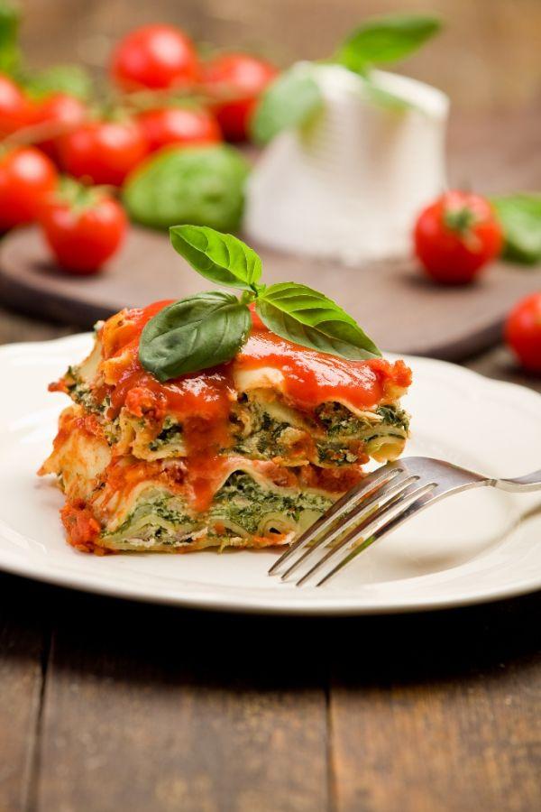 Špenátové lasagne |