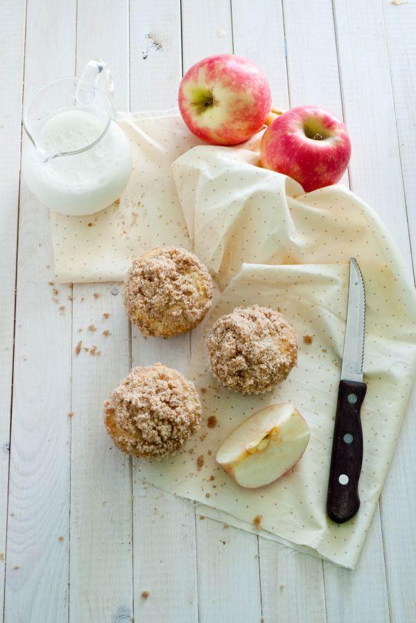 Celozrnné jablkové muffiny so škoricou |