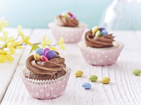 Cupcake s lentilkami |