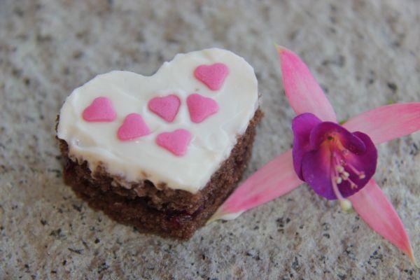 Kakaové srdiečka s mascarpone  