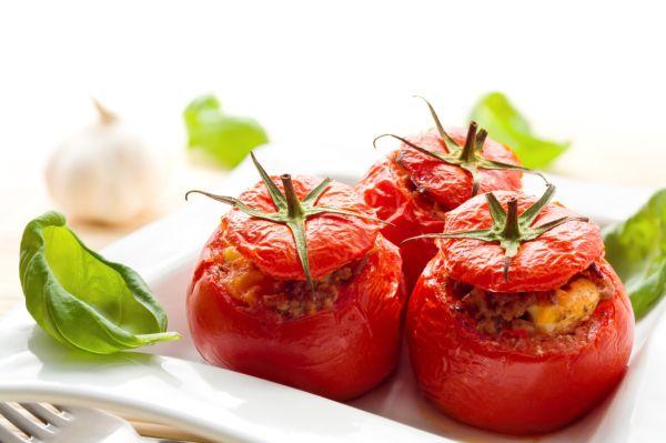 Dusené plnené rajčiaky |