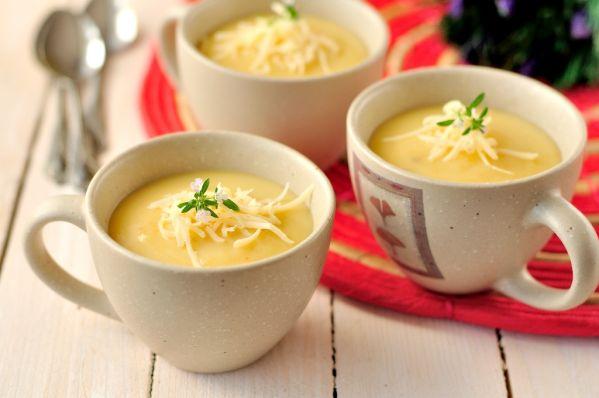 Kalerábovo- zemiaková polievka |