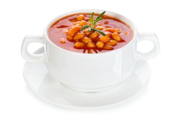 Paradajková polievka s maslovou fazuľou |