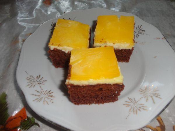 Tvarohovo želatínový koláč |