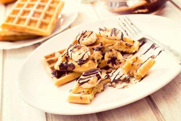 Wafle s banánom a čokoládou |