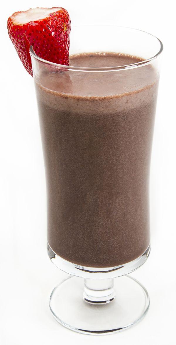 Pudingové čokoládové smoothie s jahodami |