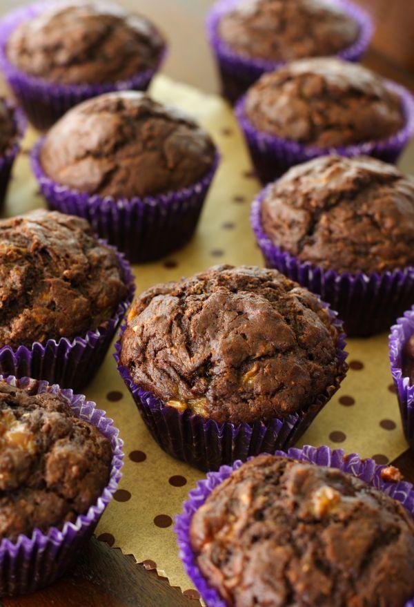 Čokoládovo-banánové muffiny bez cukru |