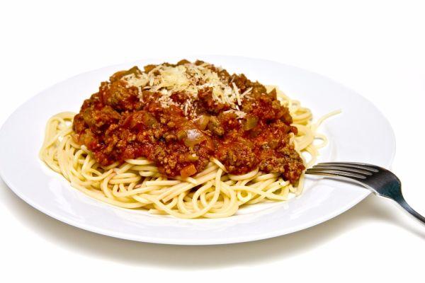 Mleté bravčové mäso so špagetami |