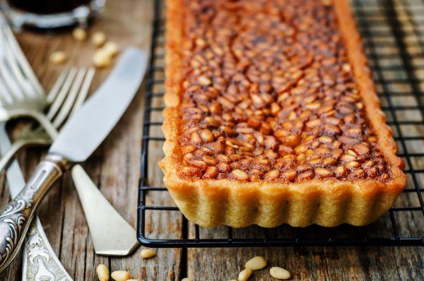 Orechový tart s medom  