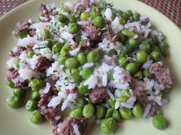 Hráškové rizoto s mletým hovädzím mäsom |