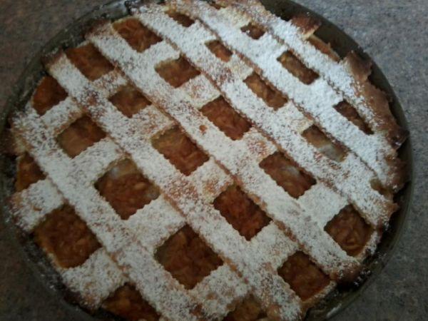 Jablkový koláč z lineckého cesta  