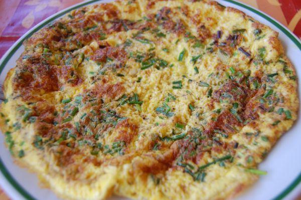 Omeleta s pažítkou |