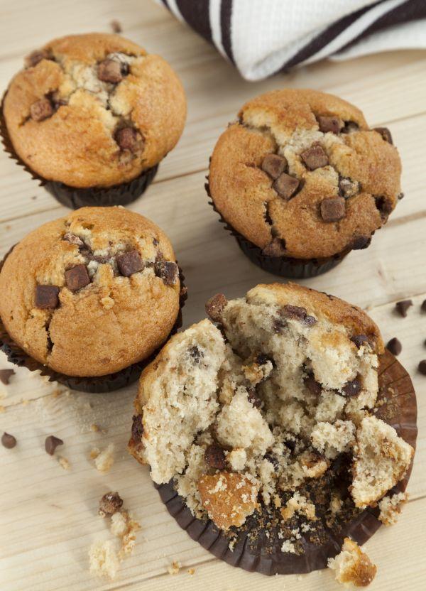Klasické muffiny s kúskami čokolády |