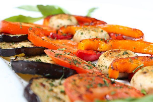 Grilovaná zelenina s cesnakom |