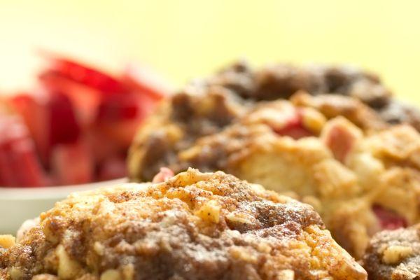Rebarborové muffiny s posýpkou |