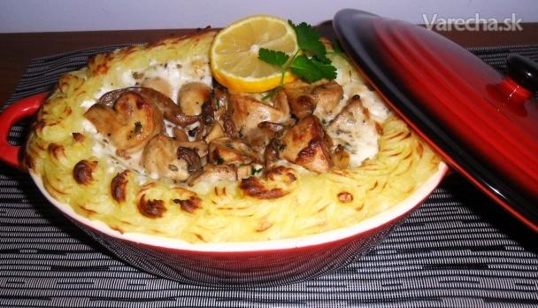 Huby v zemiakovej perinke  Recept