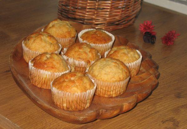 Vanilkovo-banánové muffiny |