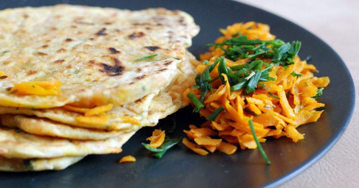 Mrkvová paratha- indické mrkvové placky, fotogaléria 1 ...
