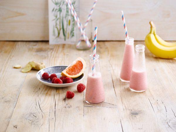 Ružové ovsené smoothie potešenie |