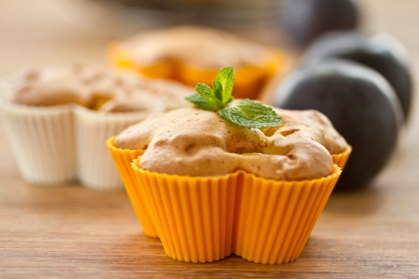 Muffiny so slivkami a hruškami  