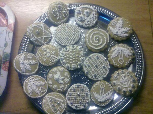 Biele vianočné medovníčky |
