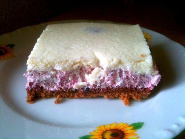 Čučoriedkový koláč s čokoládovou polevou |