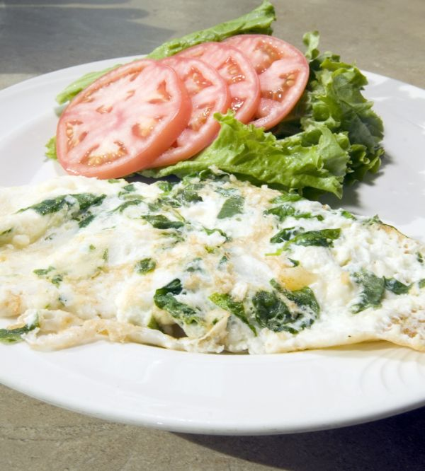 Omeleta so špenátom  