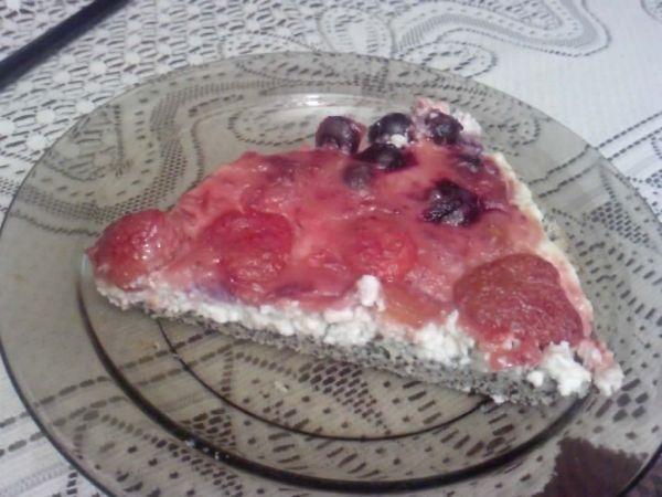 Ovocný makovo-tvarohový koláč  