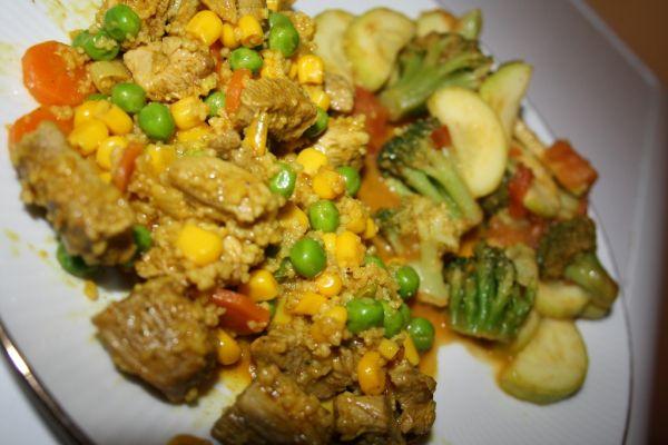 Morčacie soté s kuskusom a zeleninou |