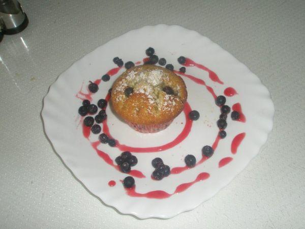 Orieškovo-čučoriedkové muffiny |