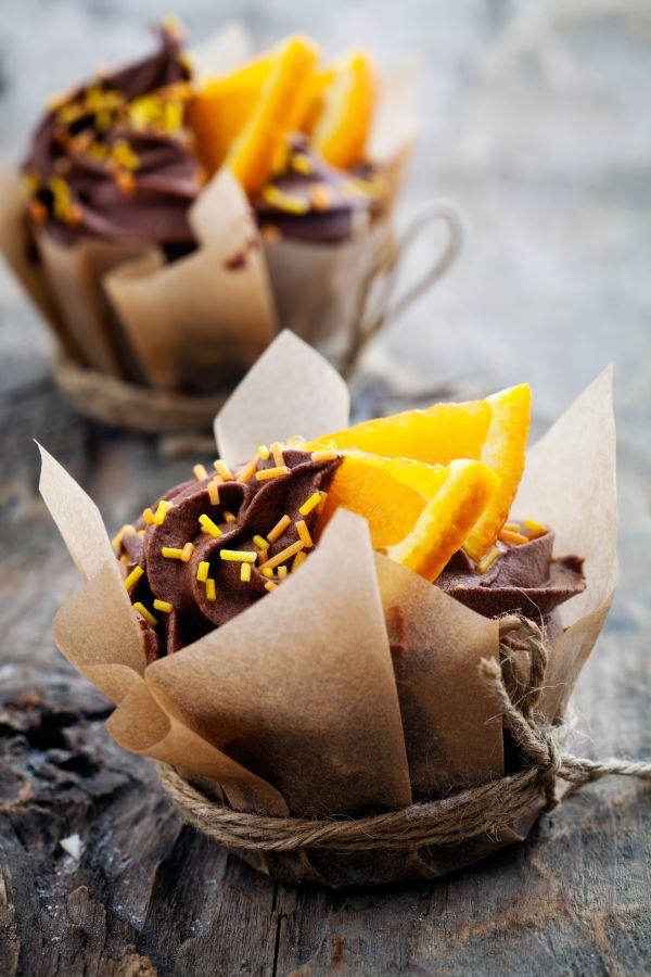 Pomarančové cupcakes s čokoládou |