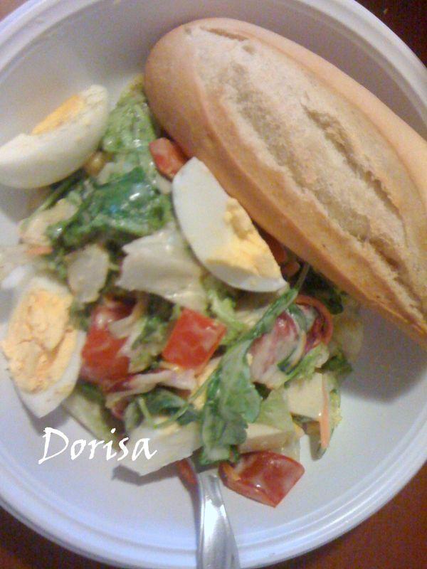 Zeleninový šalát s vajcom |
