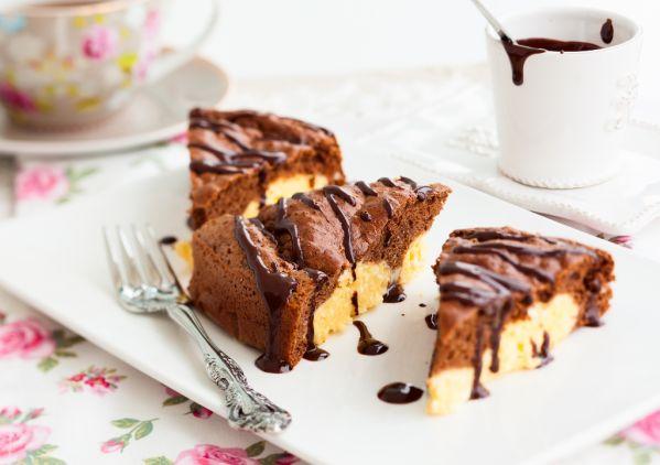 Tvarohový koláč s kakaom |