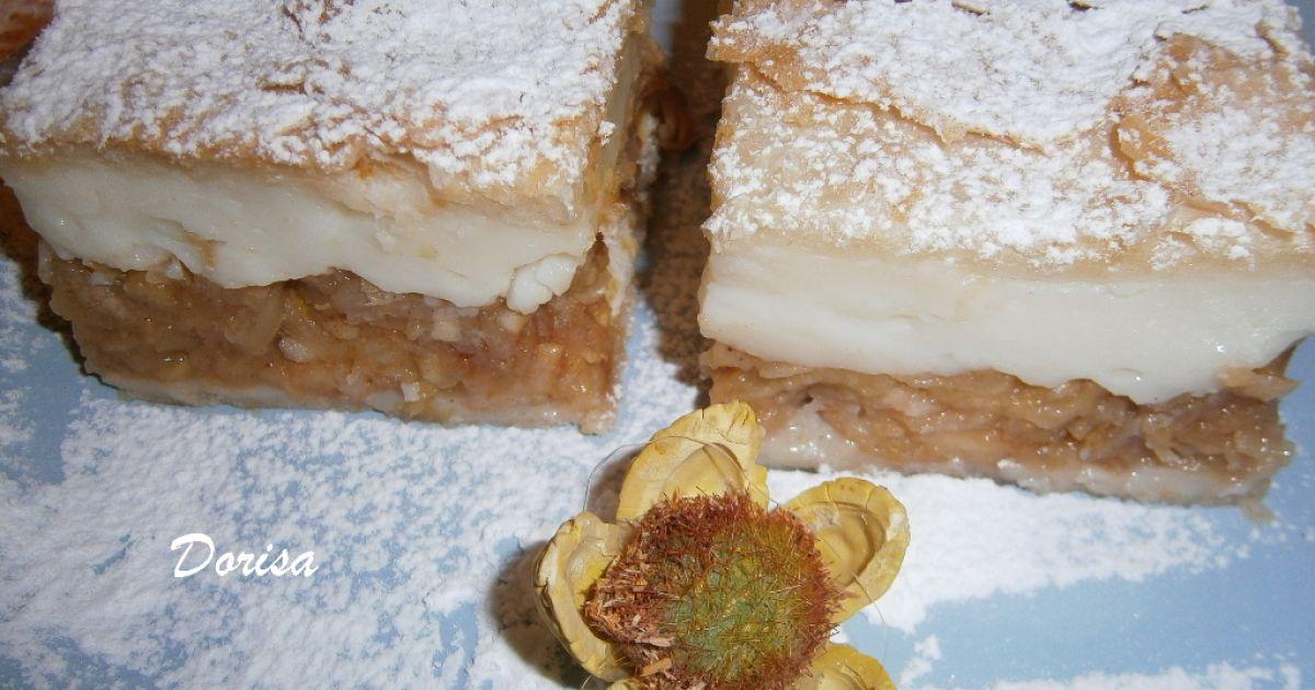 Jablkový koláč s pudingom, fotogaléria 1 / 9.