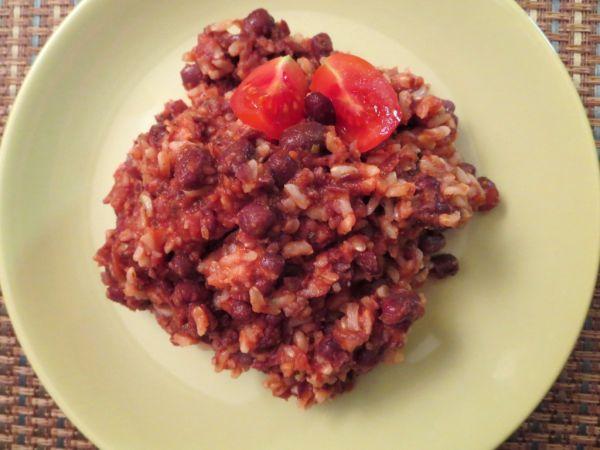Fazuľovo-ryžový šalát |