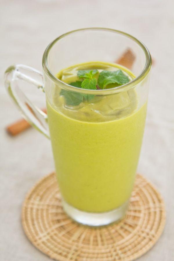 Proteínový koktail so zeleným jačmeňom |