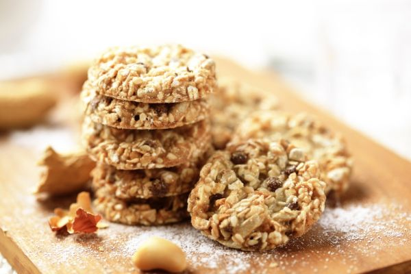 Ovsené sušienky s orieškami a chia semenami |