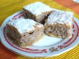 Jablkový koláč s orechovým cestom