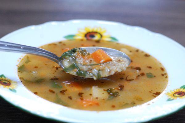 Hustá krúpová zeleninová polievka |