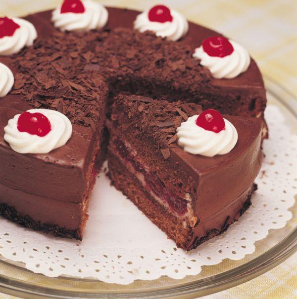 Čokoládová torta s višňami |