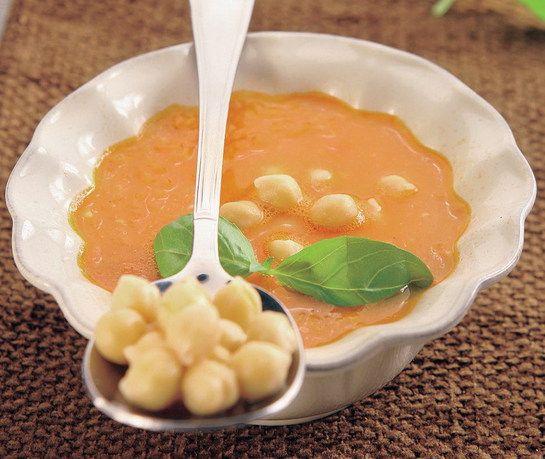 Paradajkovo  cícerová polievka |