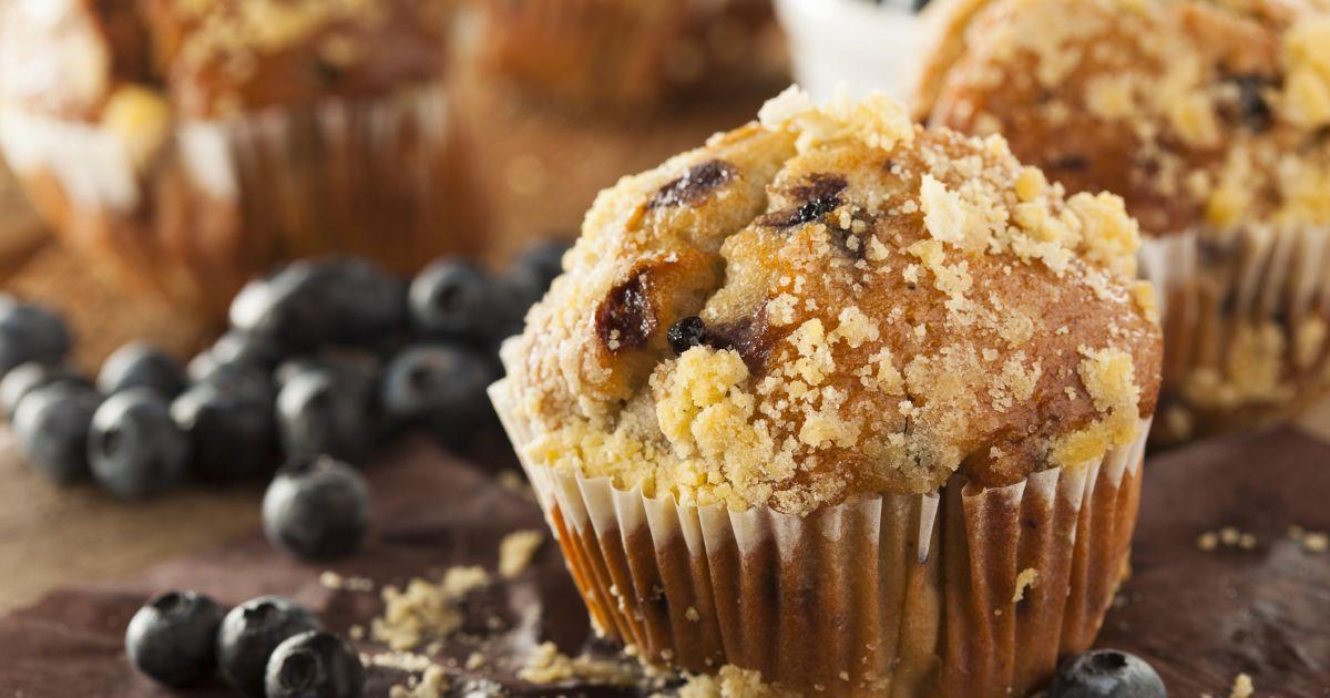 Čučoriedkovo-citrónové muffiny s posýpkou, fotogaléria 1 / 1.
