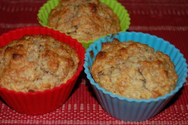 Jablkové muffiny z ovsených vločiek |