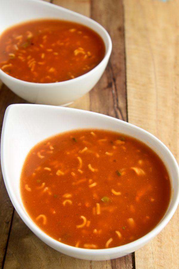 Paradajková polievka s pórom |