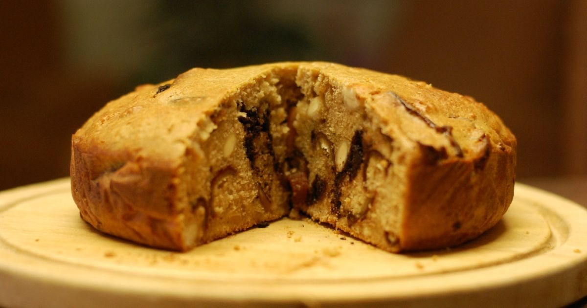 Datľovo-mandľový koláč s čokoládou, fotogaléria 1 / 10.