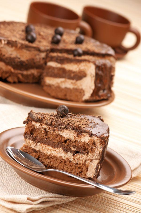 Kávová torta s karamelovým krémom |