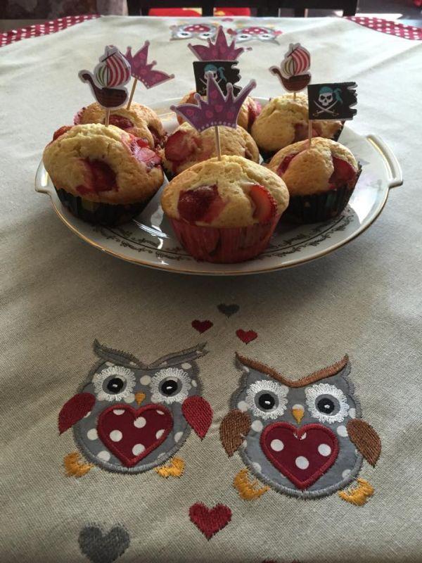Jahodové muffiny |